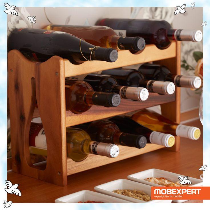 Suport 12 sticle Rustique. Încurajează-i pasiunile și oferă-i suportul tău. Cea mai bună dovadă de iubire.  #mobexpert #dragobete #cadou