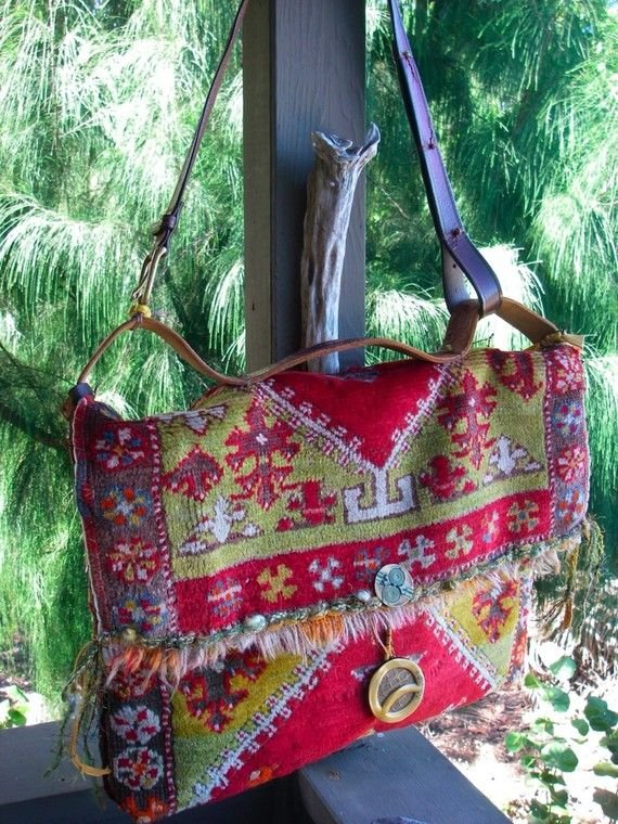 MERLIN'S MESSENGER Bag  Carpetbag Boho one of a by nomadicbags, $600.00