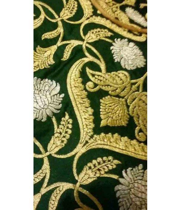 Green Handloom Banarasi Georgette Silk Dupatta