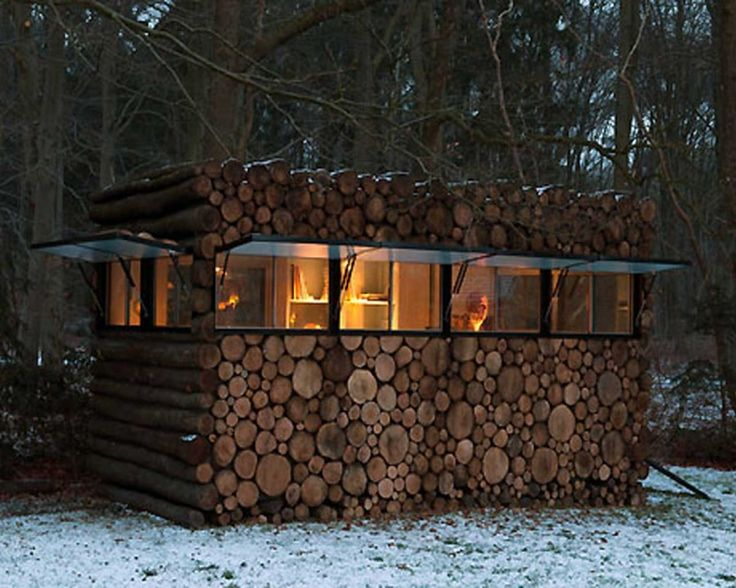Modern Backyard Office Log Cabin Homes Pictures Gallery : House Design Ideas