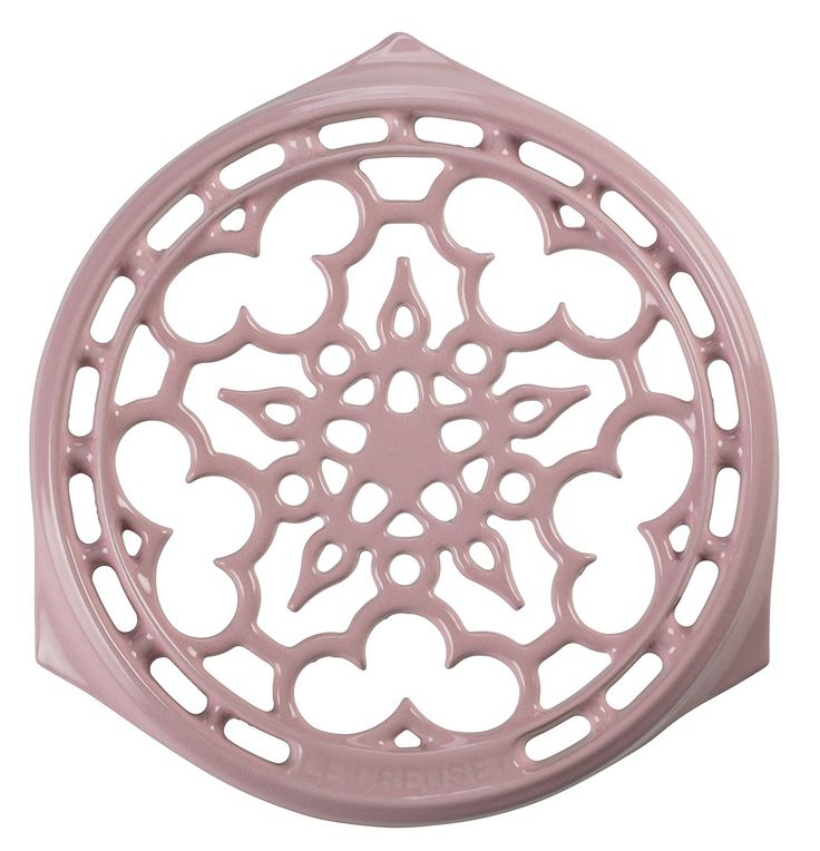 Le Creuset of America Signature Cast Iron Deluxe Round Trivet, 9-Inch, Hibiscus -- For more information, visit image link.