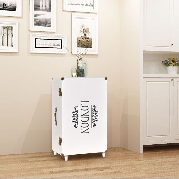 Home Bedside Cabinet Table Bedroom Nightstand Furniture White Wood Drawer London #HomeBedsideCabinet