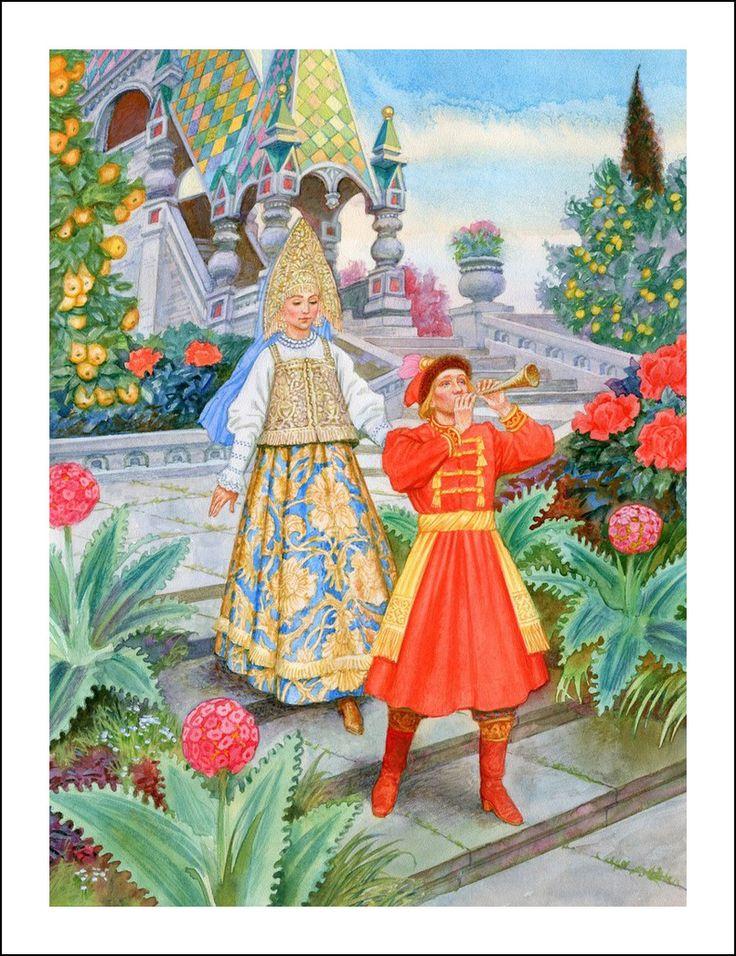 Russian fairy tales. Illustrator Victor Britvin.