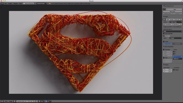 This short video explains how to use the Bounce Fiber AddOn for Blender to make a highly stylized render that has the effect of strings or cables bent and threaded through the interior of a mesh. The video explains each parameter of the AddOn and how to setup a simple Cycles material that will change color over the length of the generated fiber strands. Get the AddOn here: http://blenderartists.org/forum/showthread.php?331750-Fiber-Mesh-Emulation&p=2619253&viewfull=1#post2619253
