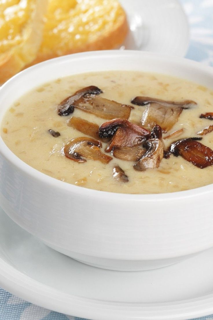 Enjoy all soups, but whole mushroom soup is the favorite. So delicious with toasted garlic bread.