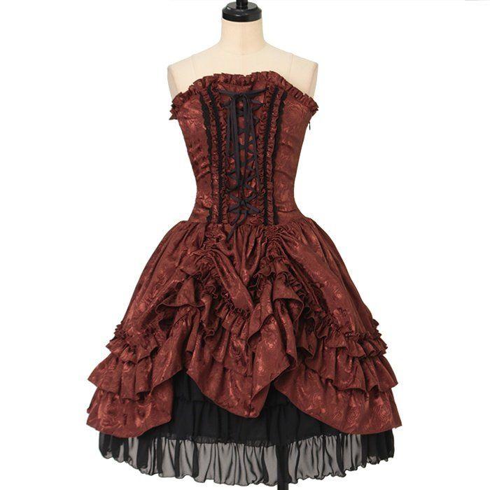 Bustle corset Dress  ATELIER-PIERROT  https://www.wunderwelt.jp/en/products/w-26347    Worldwide shipping available ♪   How to order ↓  https://www.wunderwelt.jp/en/shopping_guide  * Japanese online shop for second-hand Lolita Fashion *Wunderwelt *