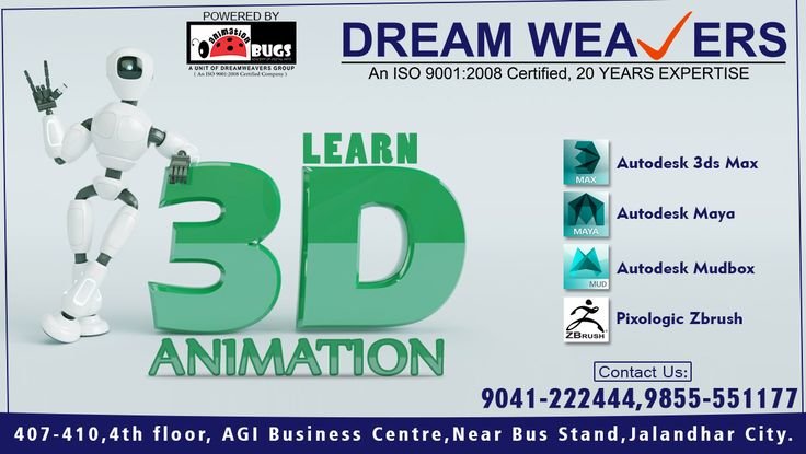 Learn 3D Animation (y) #Autodesk_3D_MAX #Autodesk_Maya #Autodesk_Mudbox #Pixologic_Zbrush Call: 9041222444 | 9855551177