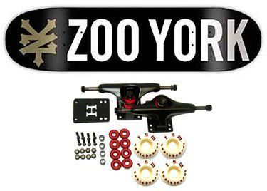 "ZOO YORK Skateboards INCENTIVE Complete SKATEBOARD by Zoo York. $64.99. Zoo York Complete Skateboard Features Zoo York - Summer Incentive Deck, Size 7.5"" x 31.5"" . Complete components include Core Trucks, 52mm TGM Goth Logo Wheels, Amphetamine Abec 5 Bearings, Black Diamond Griptape, 1"" Hardware and 1/8"" risers."
