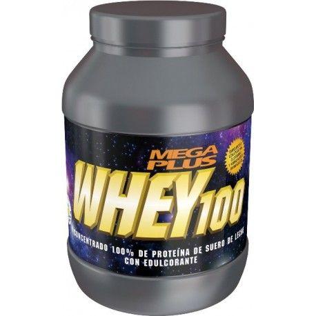 WHEY-100 1Kg sabor Chocolate 40,50 €  WHEY-100 es un concentrado 100% de proteína de suero de leche (proteína de altísima calidad (B.V. 100) enriquecida con creatina, glutamina y aminoácidos ramificados (BCAA'S). Por ello tiene un altísimo contenido en aminoácidos ramificados: al 18.75% ya presente en el suero de leche se le ha añadido un 3% en forma de leucina, isoleucina y valina, resultando un 21.75% de BCAA'S y un 5% de creatina y un 3% de glutamina. La glutamina es fundamental en la…