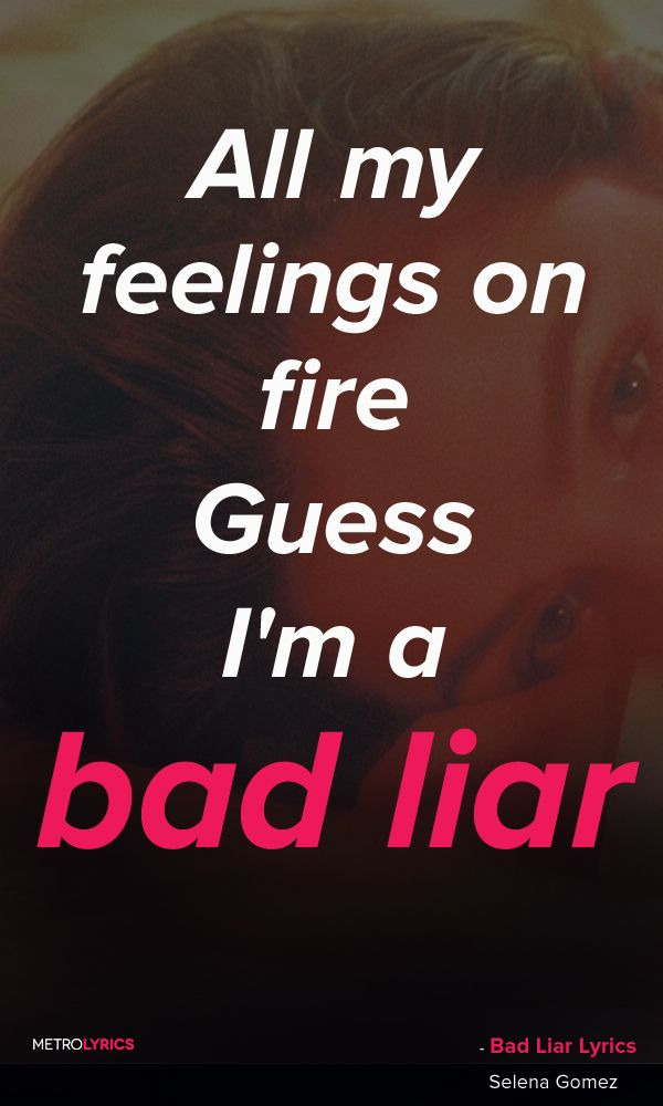 Selena Gomez - Bad Liar Lyrics and QuotesI was walking down the street the other dayTrying to distract myselfThen I see your faceOoh, you got someone elseTryna play it coyTryna make it disappearBut just like the battle of TroyThere's nothing subtle here#SelenaGomez #BadLiar #Quotes #music #lyrics