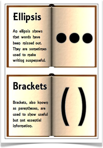 Punctuation on Old Books - Treetop Displays - A set of 13 A5 posters showing information on punctuation marks in old open books. Each poster explains how the punctuation is used. Will make a very eye-catching and informative display! Visit our website for more information and for other printable resources by clicking on the provided links. Designed by teachers for Early Years (EYFS), Key Stage 1 (KS1) and Key Stage 2 (KS2).