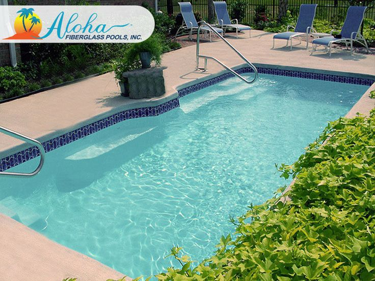 14 best images about modern pools from aloha fiberglass for Local pool builders