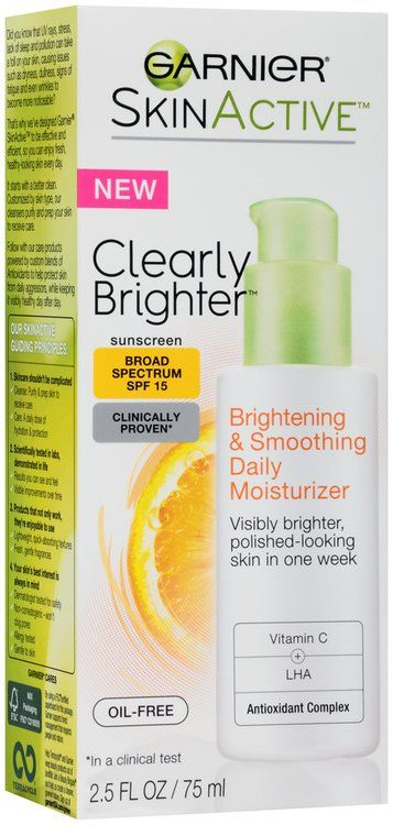 See 68 reviews on Garnier® Skin Active™ Clearly Brighter™ Brighte... in Acne Treatments: I have been using this for several days now and with my sensitive, dry skin, I can honestly say that this makes a difference. There is a light, ple...