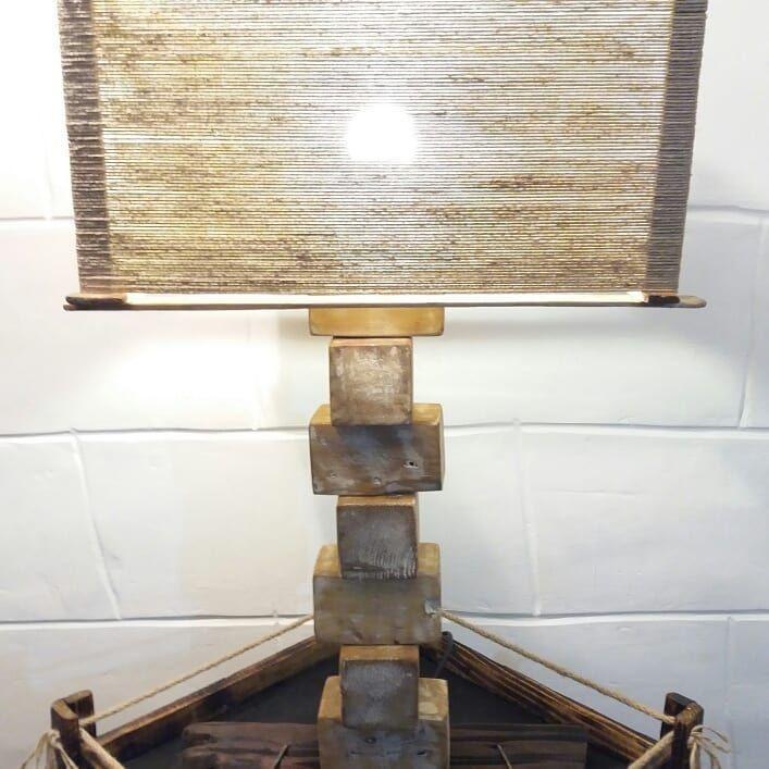 madera MESA palletcañamo nativamadera de SOBRE LAMPARA 08ONZnPXwk