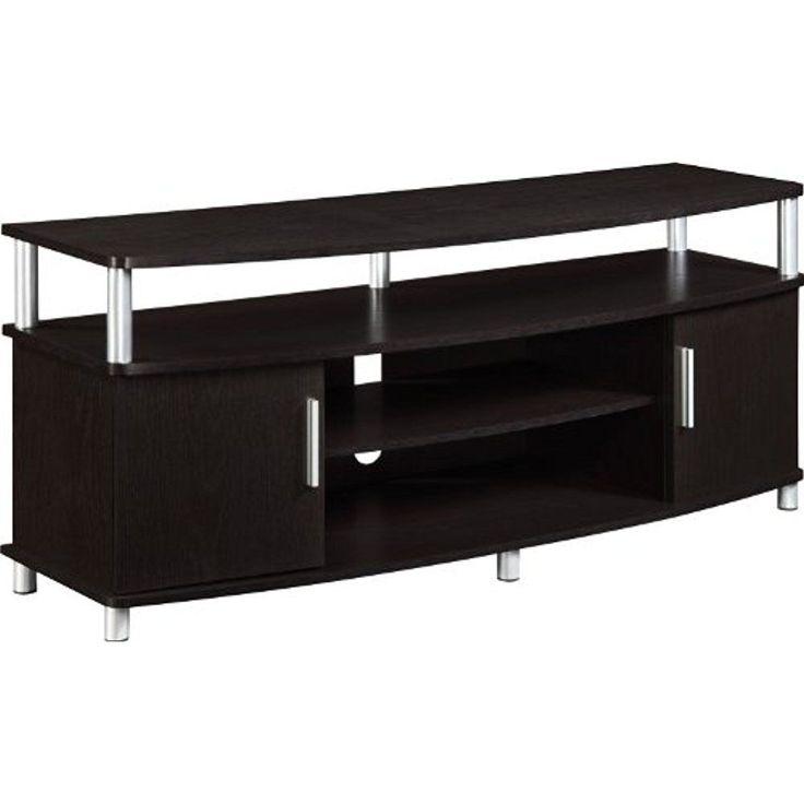 Altra Carson Home Entertainment Furniture 50\ TV Stand, Espresso/Silver #AltraFurniture