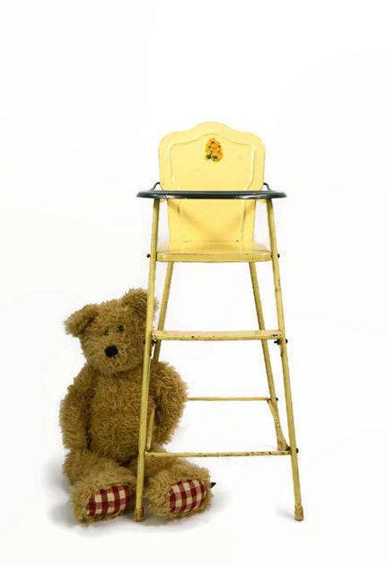 Vintage Doll High Chair AMSCO High Chair Metal Doll Chair