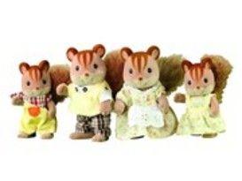 Sylvanian eekhoorn familie