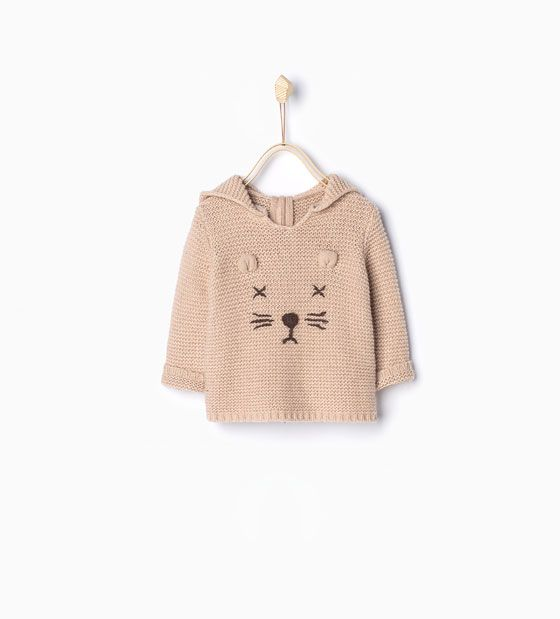 Image 1 of Knit sweater with face print from Zara