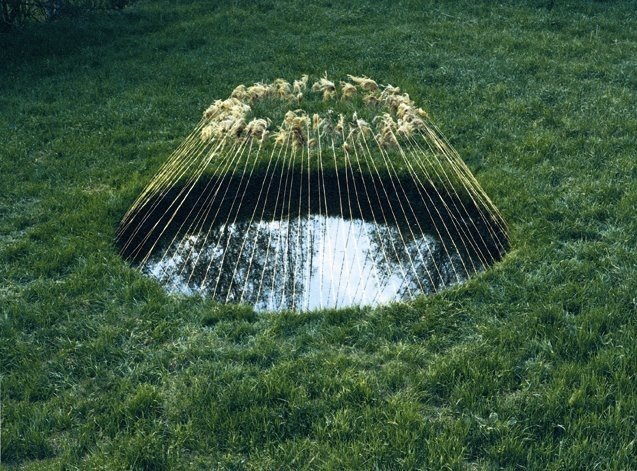 Nils Udo  Waternest, Reeds, Summer, Diptych, Germany, 1986