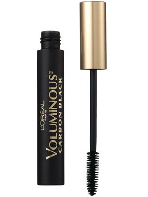 L'Oréal Paris Voluminous Mascara in Carbon Black ($5.84): This ultra-black mascara is super glossy. Just one stroke onto the lashes and there's a noticeable difference.