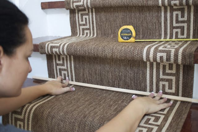 DIY stair runner.