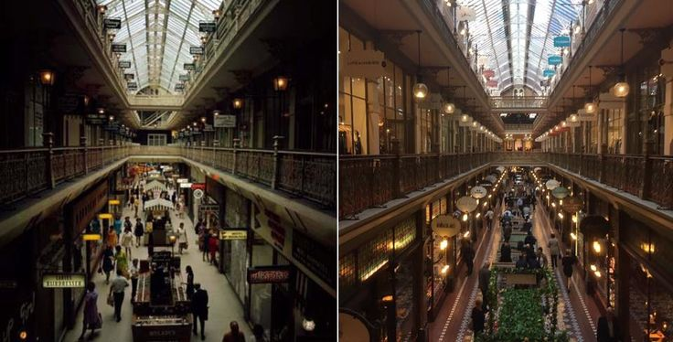 Looking east from the first floor gallery of the Strand Arcade Sydney 1970 > 2017. [National Archives of Australia > Phil Harvey. By Phil Harvey]