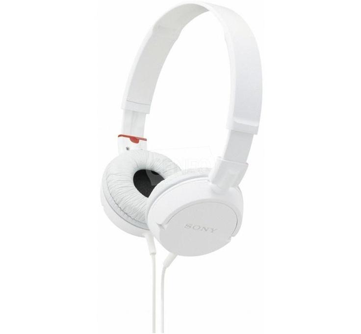 Sony MDR ZX100W modne słuchawki za nieduże pieniądze.