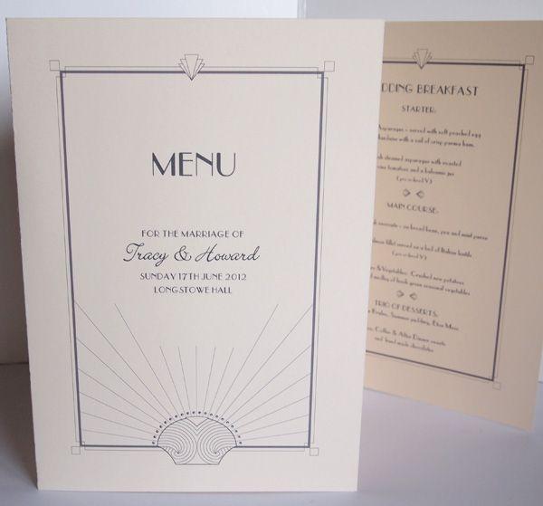 64 best menu project images – Art Deco Wedding Invitations Uk