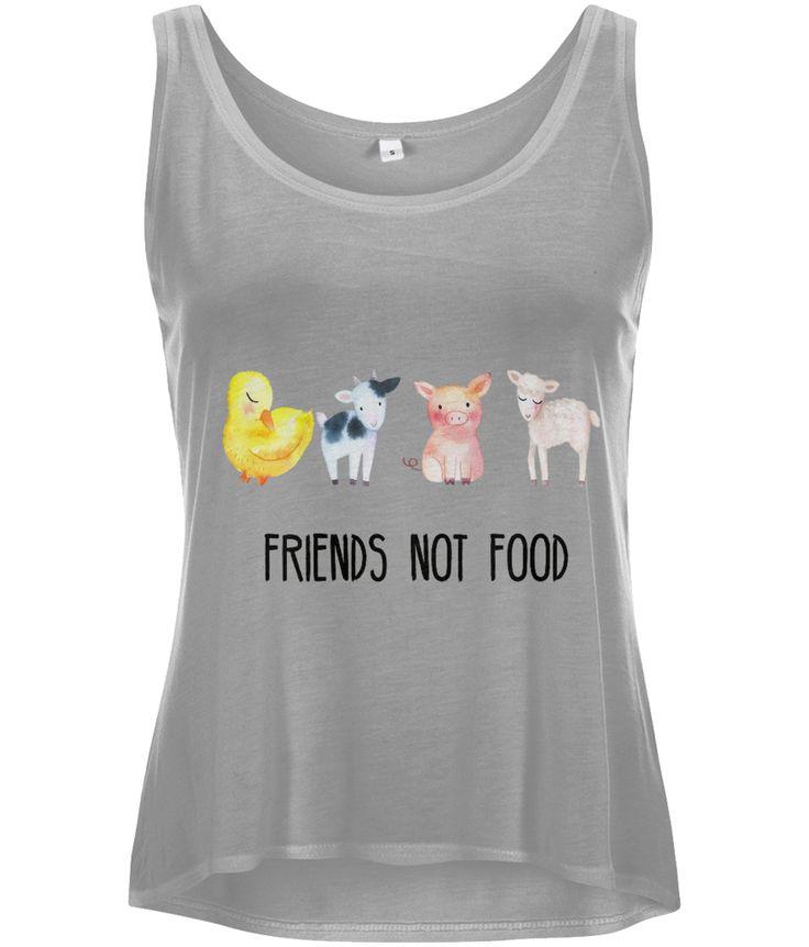Friends Not Food Women's Curved Hem Tencel Vest