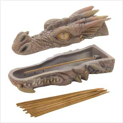 Dragon Head Incense Burner Set