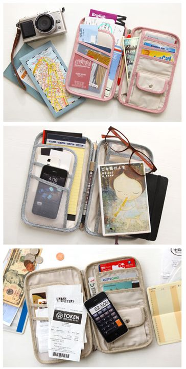 Nice way to avoid cluttering your purse with all that stuff while travelling.