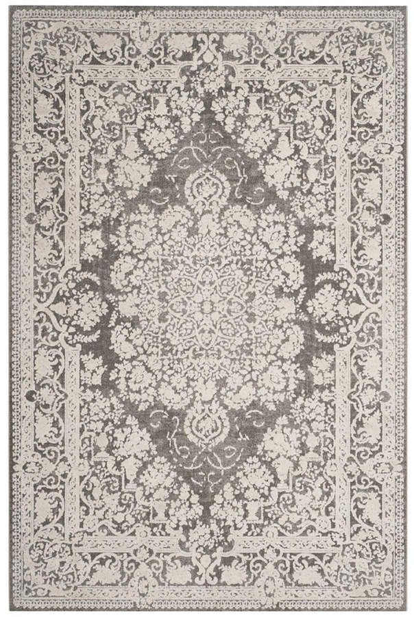 Safavieh Reflection Dark Gray And Cream 10 X 14 Area Rug With