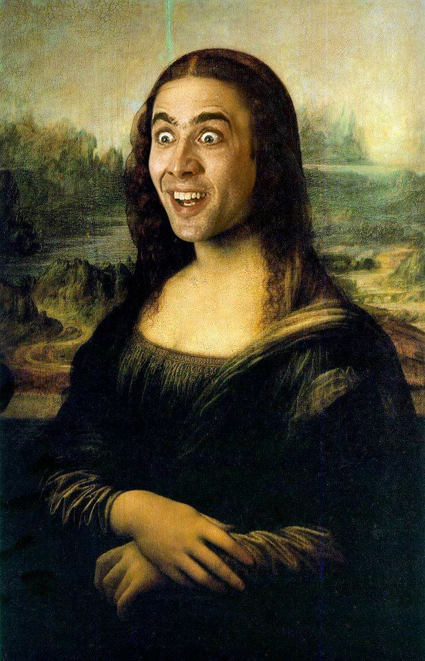 Nicholas Cage's face on Mona Lisa