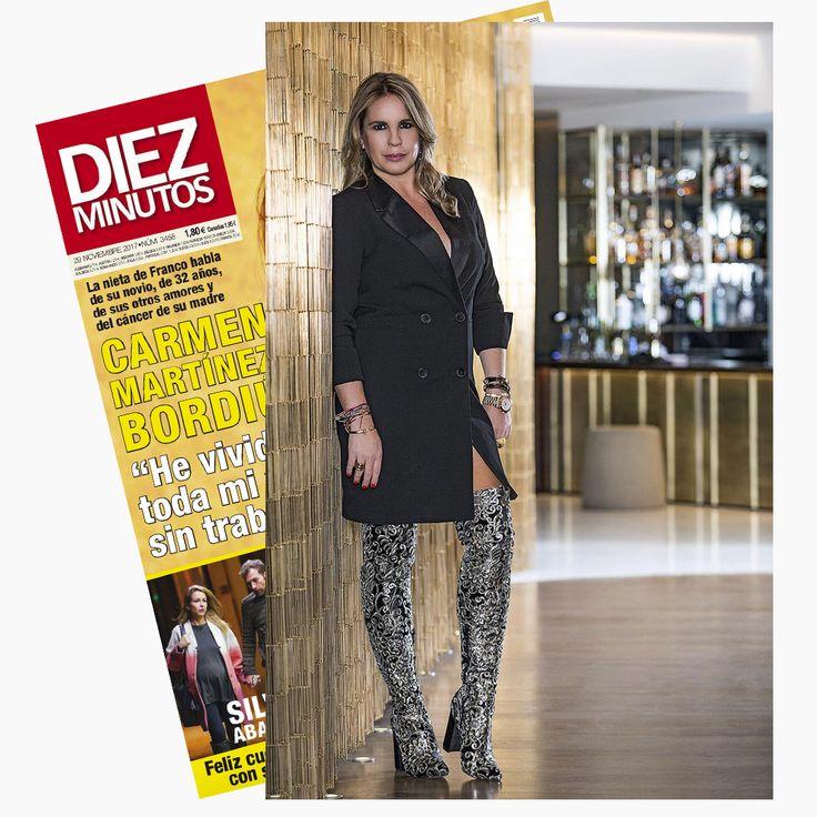 🔥Espectacular Carmen porter con botas de Exé Shoes Spain en el nuevo número de Revista Diez Minutos