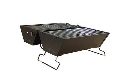 I like  this two sided portable bbq grill.