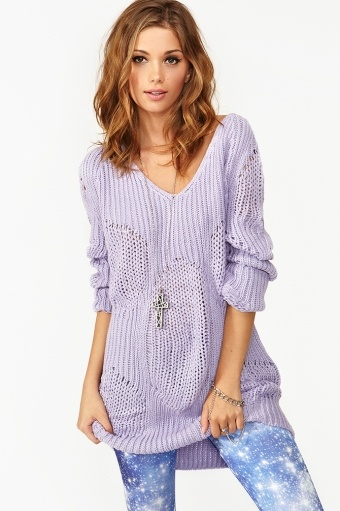 Haven Knit - Lavender, Delicate and perfect for fall.