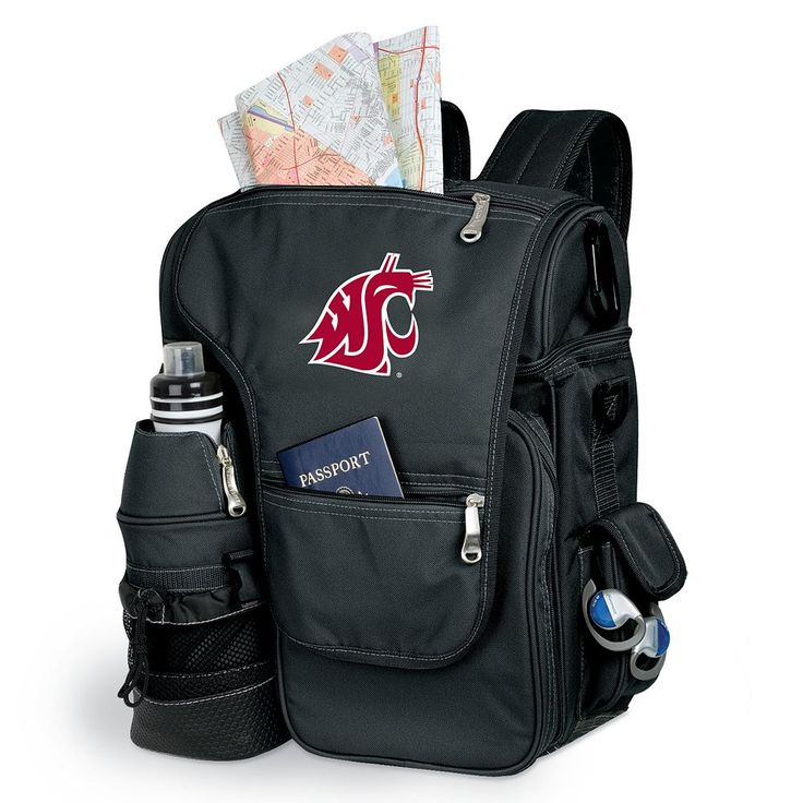 Washington State Cougars Insulated Backpack, Black