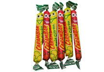 CARAMBAR MIXED FRUIT (16 PIECES) $4.50 This individually wrapped fruit candy has been a favorite of French kids since the 1950's. And French adults are easily tempted too: nothing like Carambar to bring back childhood memories. These mixed fruit carambars come in three delicious flavors: lemon, raspberry, and strawberry. Carambars are made by La Pie Qui Chante (litterally, the Singing Magpie), one of the most popular French candy brands. 128 grams / 4.5 oz (16 individually wrapped pieces)