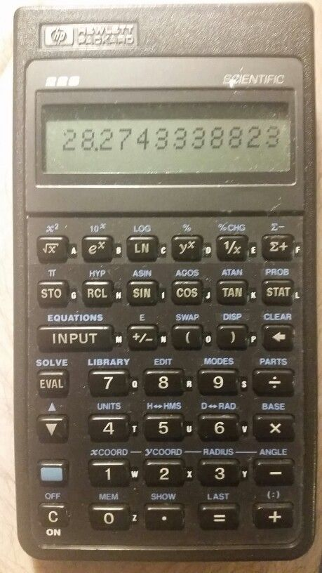HP 22S Algebraic scientific calculator