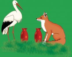 Small stories for kids - The fox and the stork