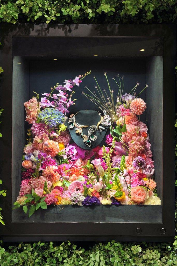 Boucheron Displays Jewels in Tokyo Great window display idea.