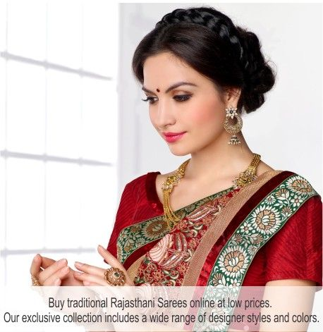 #Rajasthani #Sarees are now 45% off on #Shingar21. Visit our site and check out the deals.