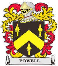 Powell family crest England