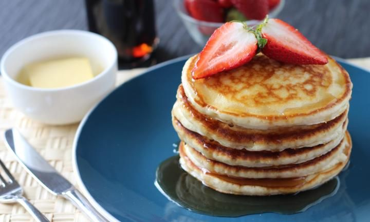 A delicious and easy pancake recipe that is fast to get on the table and better tasting than any convenience pre-packaged mix.