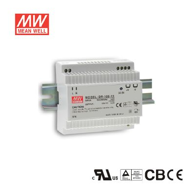100Watt  24Volt  4.2Amp Isolation Class II Single Output Industrial DIN Rail Power Supply Mean Well DR-100-24
