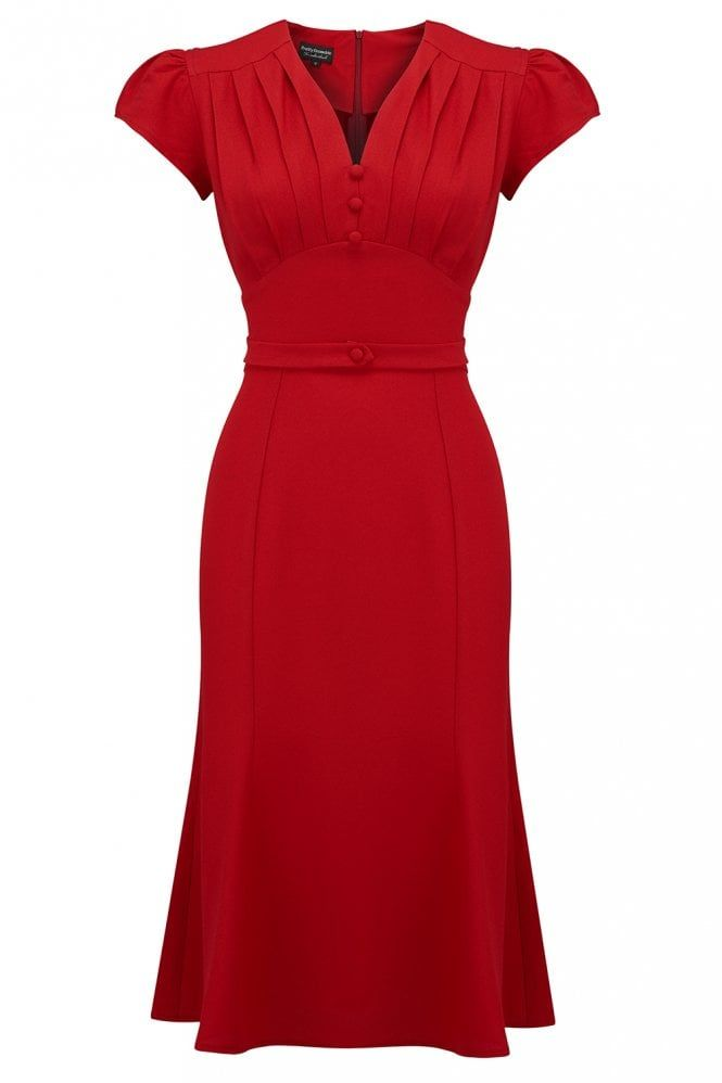 Bacall dress in red  be75602604c5