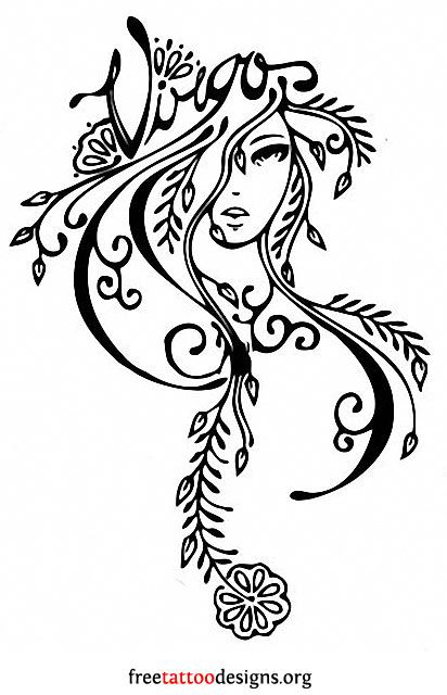 Virgo Tribal Tattoo Designs
