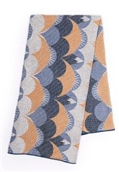 House of Rym Eternal Sunset Blue Jacquard Woven Baby Blankets, now at Northlight