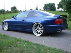 BMW 850i with insane deep dish rims