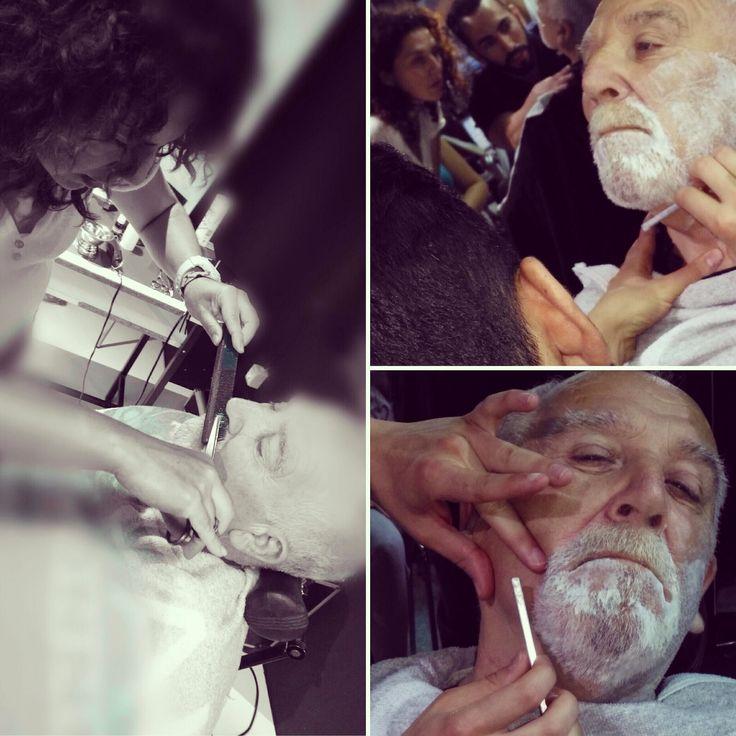 Otro día aprendiendo las técnicas de Alberto y Antonio. Another day learning the techniques of Alberto and Antonio. #peluquería #Vintage #barbería #Artero #premiademar #hairstyle #haircut
